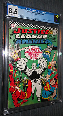 Justice League of America #43 CGC 8.5 White pages - 1st app Royal Flush Gang!