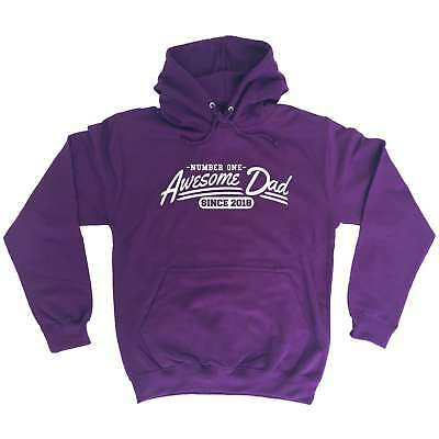 Awesome Dad Since 2018 Funny Joke Fathers Day HOODIE Birthday Gift