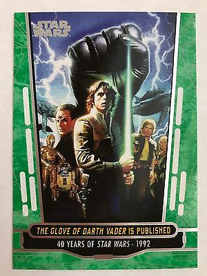 Star Wars 40th Anniversary Base Card #76 The Glove of Darth Vader is Published