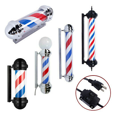 "20"" 28"" 32"" 36"" 41""  Barber Shop Rotating Pole Light Stripes Sign Red Blue White"