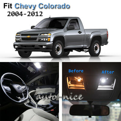 8pcs Blue Led Interior Lights Bulb Package Kit For Chevy Colorado 2004 2012 Cad