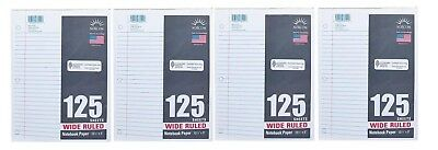 Filler Paper - Wide Rule 4 Packs Of 125 ( That's 500 Sheets!)