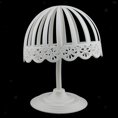 New Plastic Baby Head Hat Cap Display Holder Stand Tool Wig Stand Rack White