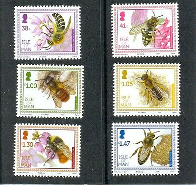 Isle of Man -Bees set of six mnh(2012)-Insects