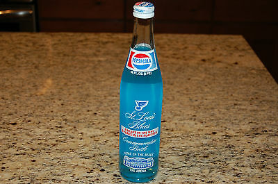 St. Louis Blues Pepsi Bottle With Blue Soda Commemorative 6 Years In Playoffs