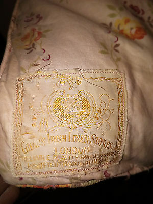 Pair of Antique Rose Pattern Feather Eiderdown Quilts Givans Irish Linen Store