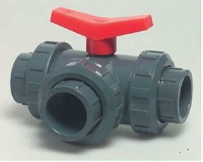 PVC 3 WAY BALL VALVE. 50 mm. L or T  port.