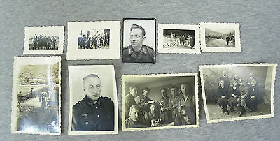 WW2 LOT of 9 ORIGINAL GERMAN ARMY OFFICERS & SOLDIERS REAL PHOTOS WWII #4 -
