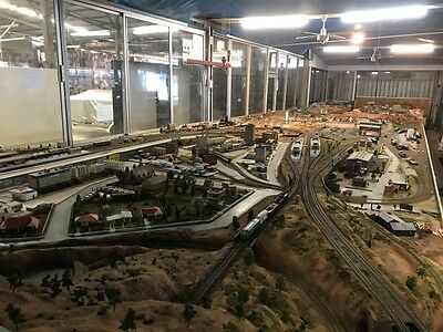 #0001, Antique Model train layout Was the major attraction at Royal easter show