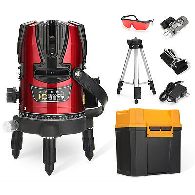 Automatic 4V1H 360° Self Leveling 8 Line Rotary Laser Level Measure + Tripod Set