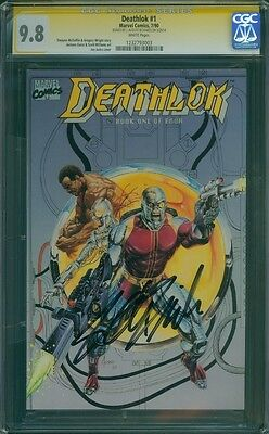 CGC SS 9.8 Deathlok #1 signed by Agents of Shield actor J. August Richards