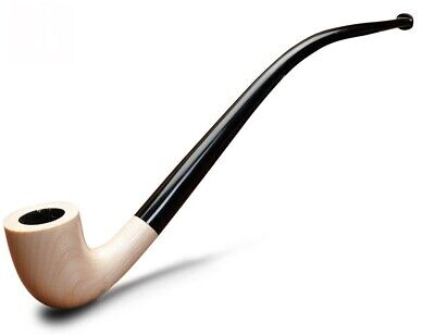 """Churchwarden Smoking pipe """"WHITE"""" Gandalf pipe Lord of the Rings long pipe +GIFT"""