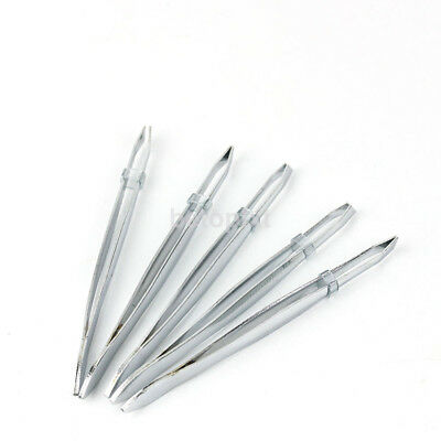 5PC Silver Stainless Steel Eyebrow Hair Removal Tweezers Clip Makeup Beauty Tool