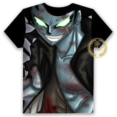 Anime Fairy Tail Gajeel Unisex T-shirt HD Printing Cosplay Tee Tops#12-BD49