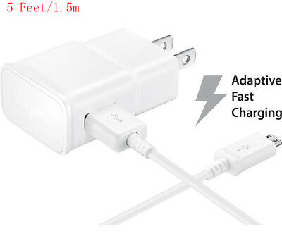 OEM Adaptive Fast Wall Charger USB Cord Cable For Samsung Galaxy S6 S7 Note 4 5