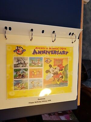 Mickey & Minnie 70th Anniversary Stamp and first day covers collection 1998 mint