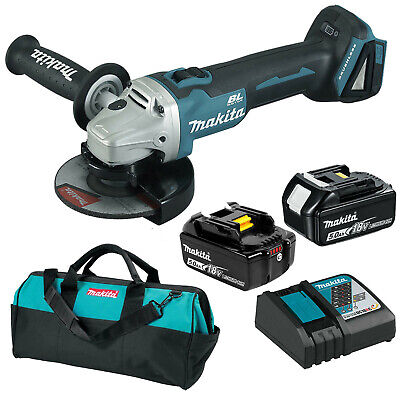 Makita 18V Li-Ion Brushless Angle Grinder 125MM 5.0Ah Combo Kit - DGA504RTE