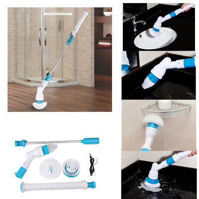 Handheld Rechargeable Spin Scrubber 360 Cordless Power Cleaner Cleaning Brush Au