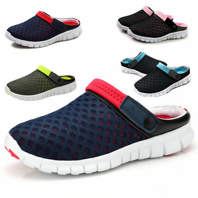 Mens Womens Summer Breathable Sandals Beach Slipper Casual Sport Mesh Shoes AU