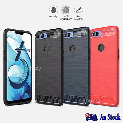 Shockproof Heavy Duty Rugged Carbon Fiber Case For Oppo R11 + Protector