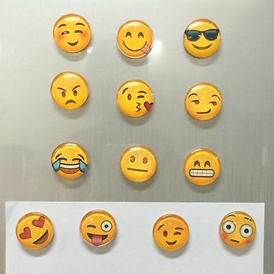 SMILEY FACE EMOJI Glass Fridge Magnet - FAST DELIVERY