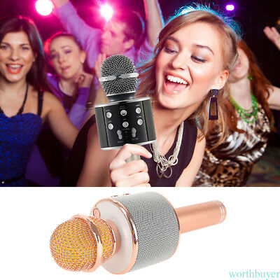 For IPhone Android WS-858 Wireless Bluetooth KTV Karaoke Microphone Speaker Hot