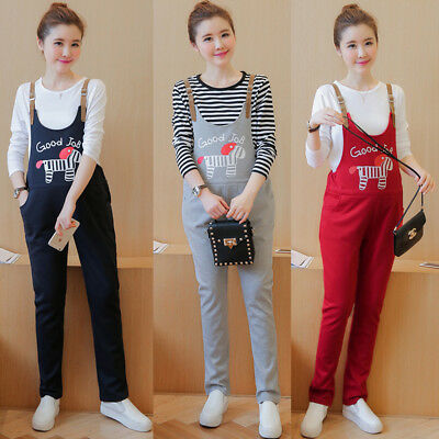 Pregnancy Maternity Dungarees Trousers Jumpsuits Pants Comfy Cute 8 10 12 14