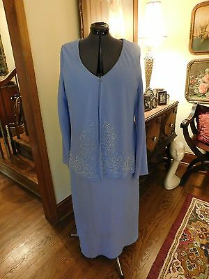Beautiful Plus Mother Of The Bride Or Groom Wysteria Blue Crepe Chiffon