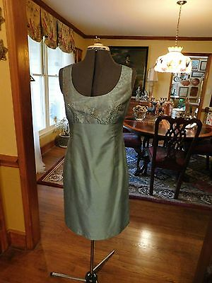 Beautiful Mother Of The Bride Or Groom Or Special Occason 2-Piece Aqua Suit Sz 8