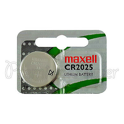 1 x Maxell Lithium CR2025 battery 3V Coin Cell DL2025 BR2025 ERC2025 Hologram