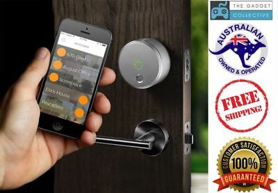 August Smart Lock 2nd Generation Remotely lock/unlock door - SILVER