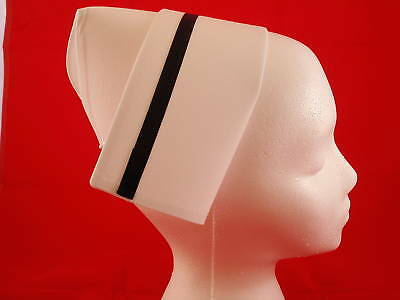 New Authentic Nurse Cap w/ Black Stripe Vintage Style/ made & shipped USA
