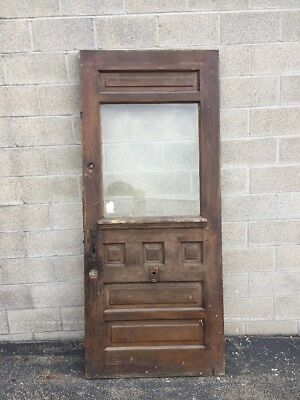 Cm 212 Antique Beveled Glass Farmhouse Entry Door 36 X 84