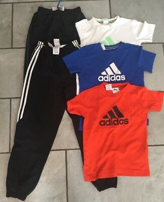 Boys 100% Genuine Adidas Bundle Age 8-10 Sports TrouserJoggers Tops Tracksuit