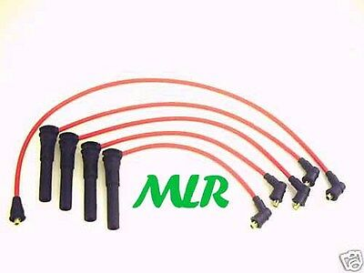 Red 8Mm Silicone Ignition Ht Leads Rover K Series Metro Gti 100 214 414 Mlr.ah