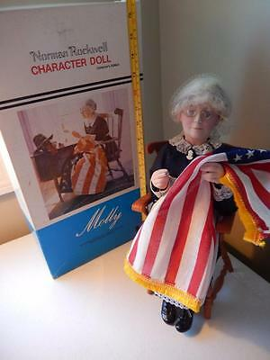 """Norman Rockwell (RARE) - MOLLY - Rumbleseat Press LG Character Doll 13"""" T #725"""