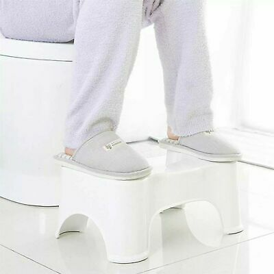 Children Kids Toilet Platform Non Slip Sit Step Chair Shower Stool White Colour