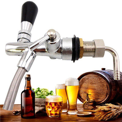 "4"" Long Stainless steel Adjustable Draft Beer Faucet For Kegerator Tap Homebrew"