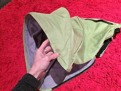 Steelcraft Agile Pram Sun Canopy Hood Stroller SPARE PARTS Cover FOREST GREEN