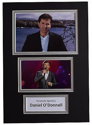Daniel O'Donnell Signed Autograph A4 photo display Ireland Music AFTAL & COA