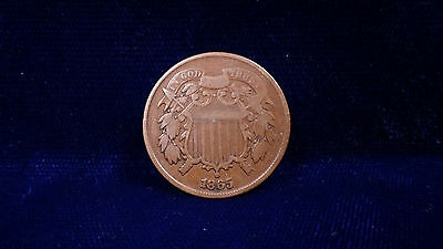 1865 2 Cent Coin **NICE AND CLEAN, GREAT COIN**
