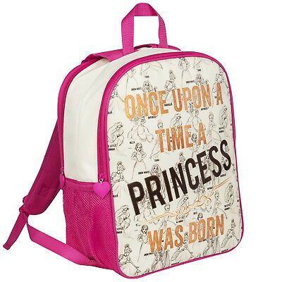 74898a62b8c OFFICIAL Disney Princess Girls Double-Sided Backpack Rucksack School Bag  (NEW)
