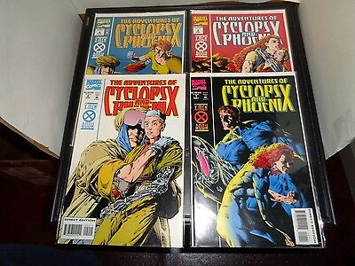 The Adventures Of Cyclops And Phoenix 1-4 Marvel 1994 Complete Set VF Condition