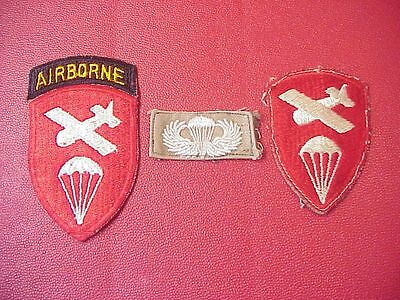 Original Lot Of 3 Vintage Airborne / Paratrooper Patches From Estate
