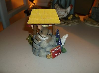 "Charming Tails""You're Everything I've Wished For"" Mouse/Wishing Well Figurine"