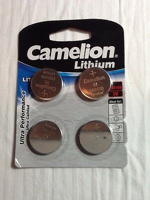 Camelion 3V Lithium Button Cell Battery CR2450-BP4 (New 4 Pack, 10/2014)