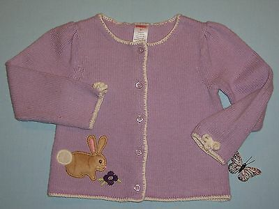 """Gymboree girls """"AUTUMN HIGHLANDS"""" sz 3T SWEATER...LAVENDER with BUNNY...RARE"""