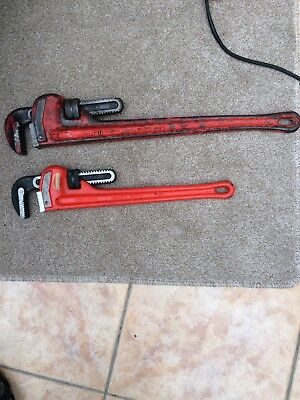 """RIDGID Heavy Duty Pipe Wrenches Stilson Wrench 18"""" And 24"""""""