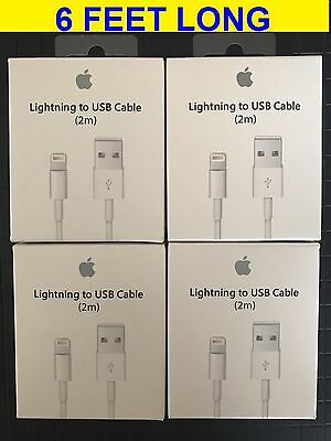 4 Pack - 6FT OEM Apple Lightning Cable USB Cable Charger iPhone 7 6S Plus 5 C SE