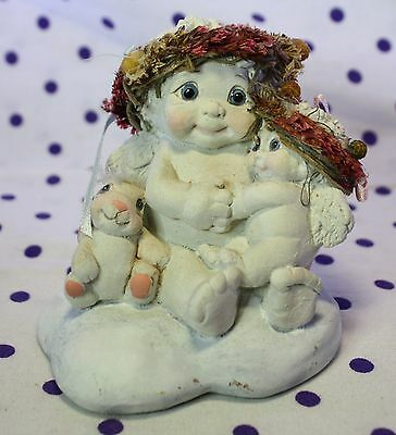 Dreamsicles Angel Cherub Figurine LOTS OF LOVE Baby Child Bunny Rabbit DC403